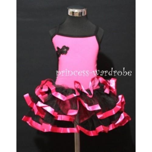 Hot Pink Black Ballet Tutu B65