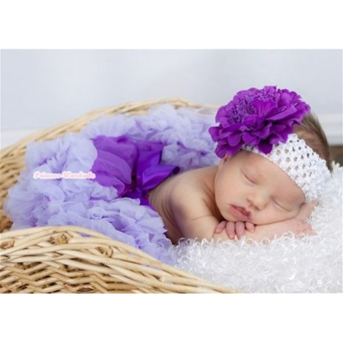 Dark Purple Lavender Newborn Pettiskirt N117