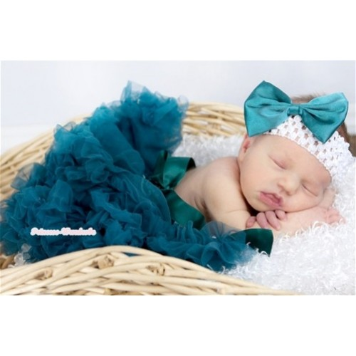 Teal Green New Born Pettiskirt N112