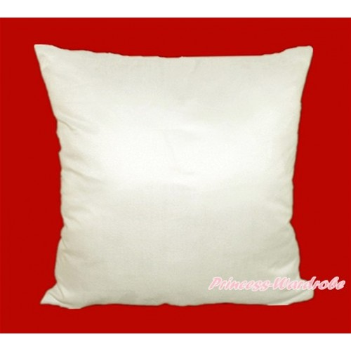 White Solid Color Home Sofa Cushion Cover HG002