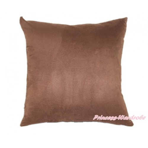Brown Solid Color Home Sofa Cushion Cover HG003