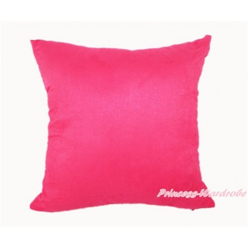 Hot Pink Solid Color Home Sofa Cushion Cover HG005