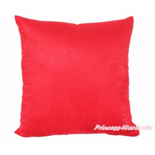 Hot Red Solid Color Home Sofa Cushion Cover HG006