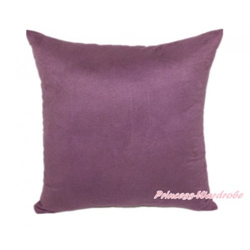 Dark Purple Solid Color Home Sofa Cushion Cover HG008