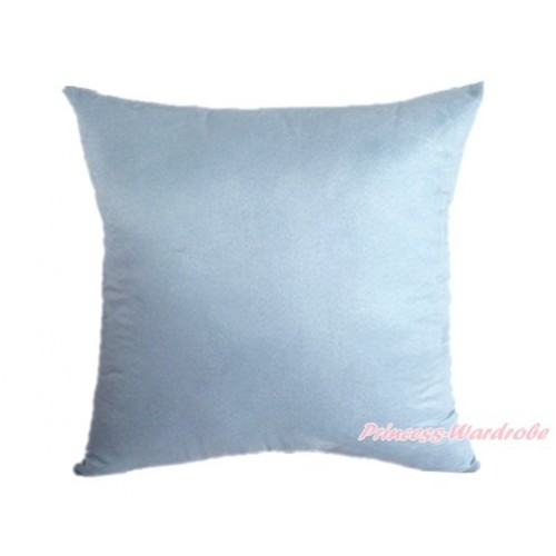 Light Blue Solid Color Home Sofa Cushion Cover HG009