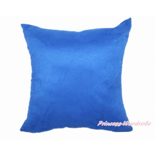 Royal Blue Solid Color Home Sofa Cushion Cover HG010