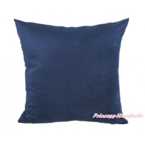 Dark Blue Solid Color Home Sofa Cushion Cover HG011