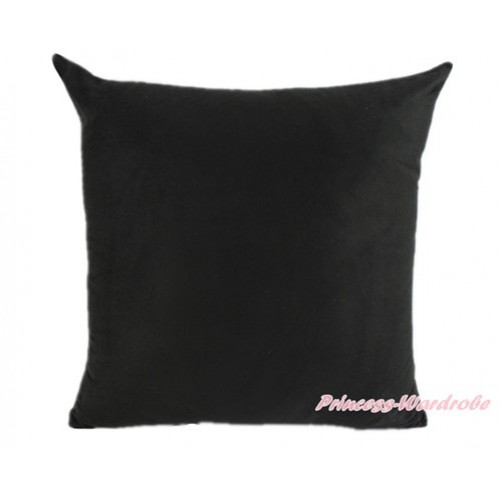Black Solid Color Home Sofa Cushion Cover HG012