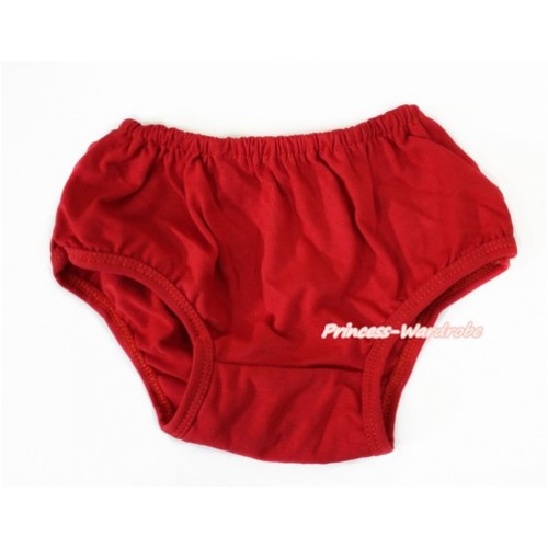 Plain style Hot Red Panties Bloomers B079
