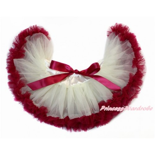 Cream White Raspberry Wine Red Newborn Pettiskirt N214