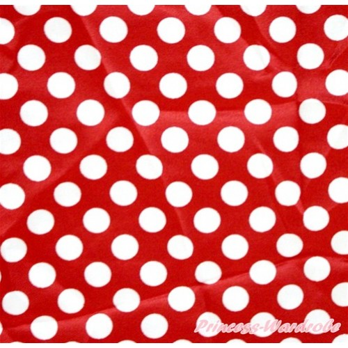 1 Yard Minnie Dots Print Satin Fabrics HG042