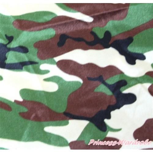 1 Yard Camouflage Print Satin Fabrics HG049