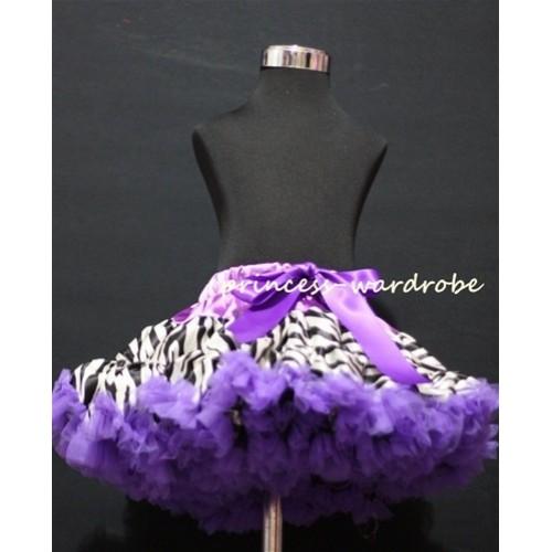 Dark Purple Zebra Pettiskirt P71