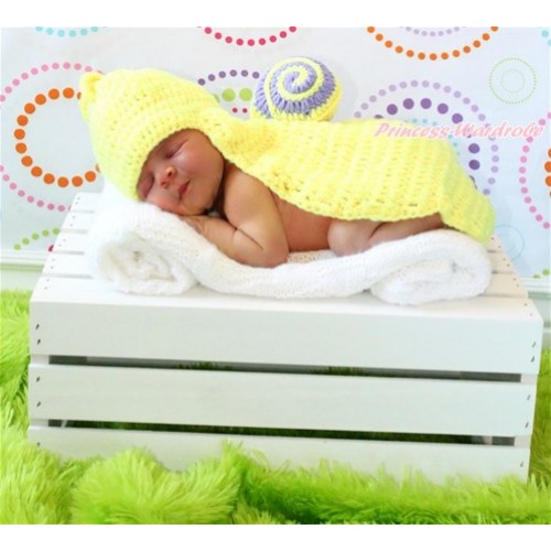 Snail Photo Prop Crochet Newborn Baby Custome C155