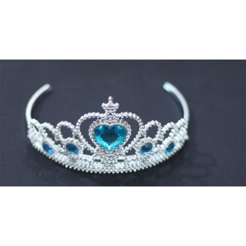 Blue Princess Cinderella Tiara Headband Crowns H23