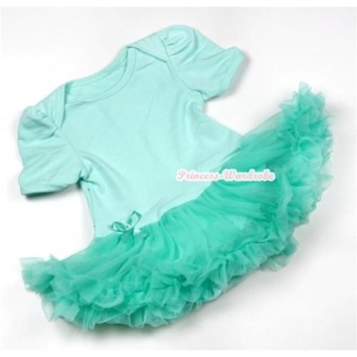 Aqua Blue Baby Jumpsuit Aqua Blue Pettiskirt JS538
