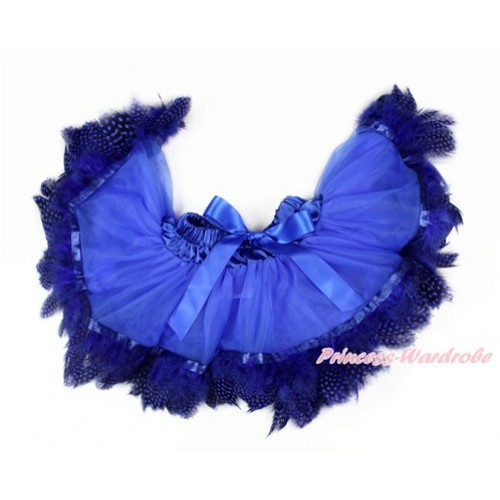 Royal Blue Feather Newborn Pettiskirt N216