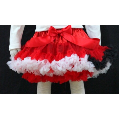 Rainbow Red White Black Mix Pettiskirt P51