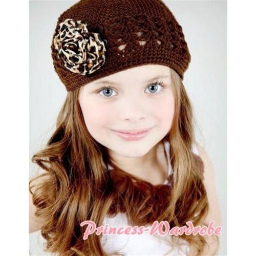 Crochet Beanie Hat & Rosettes Hat01