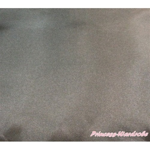 1 Yard Brown Solid Color Satin Fabrics HG073