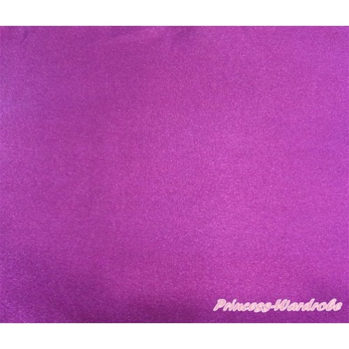 1 Yard Dark Purple Solid Color Satin Fabrics HG076