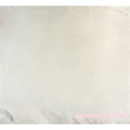 1 Yard Cream White Solid Color Satin Fabrics HG081