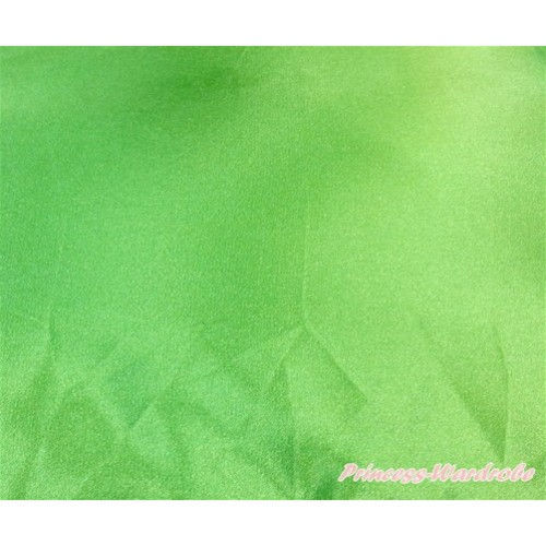 1 Yard Light Green Solid Color Satin Fabrics HG083