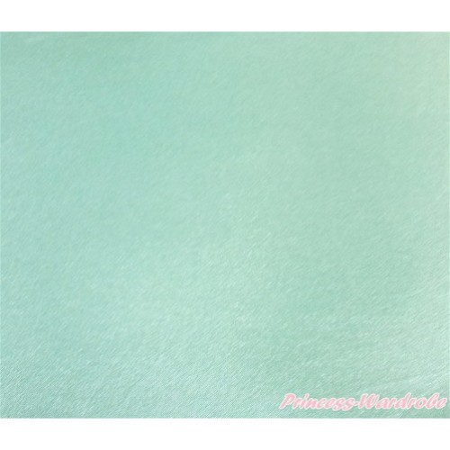 1 Yard Aqua Blue Solid Color Satin Fabrics HG088