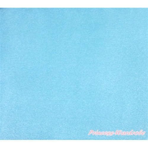 1 Yard Light Blue Solid Color Satin Fabrics HG090