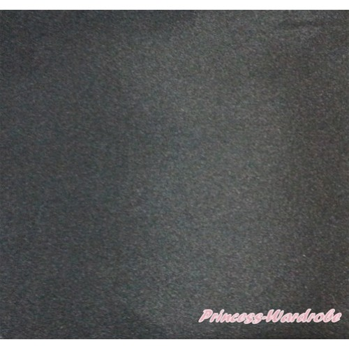 1 Yard Black Solid Color Satin Fabrics HG091