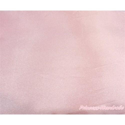 1 Yard Light Pink Solid Color Satin Fabrics HG095