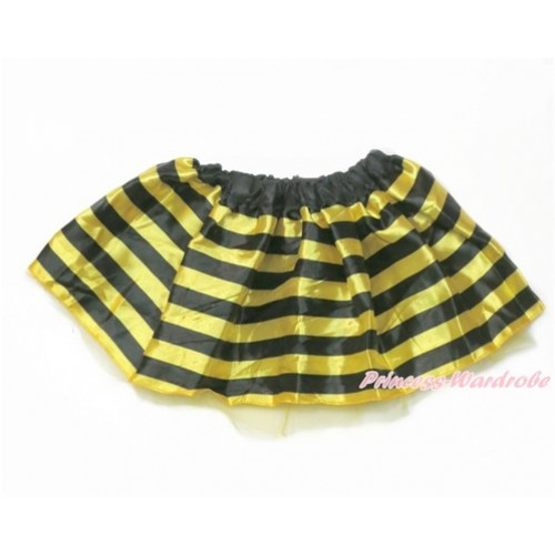 Black Yellow Striped Bumble Bee Skirt Costume C256