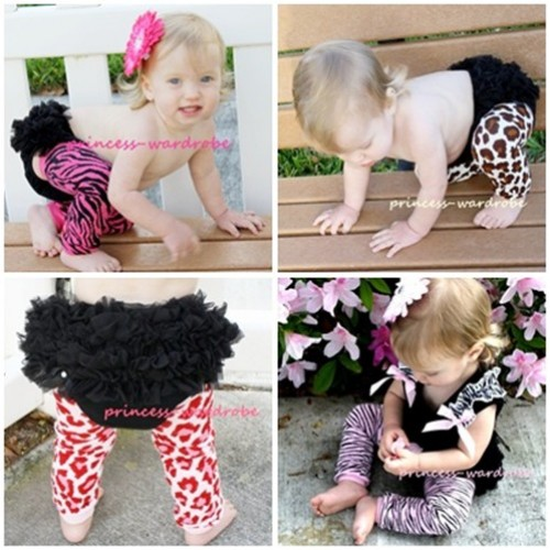 Lot 4 Newborn Baby Animal Print Leg Warmers Leggings LG00