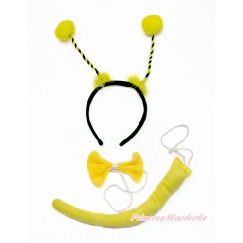 Bumble Bee 3 Piece Set in Headband,Tie,Tail PC071