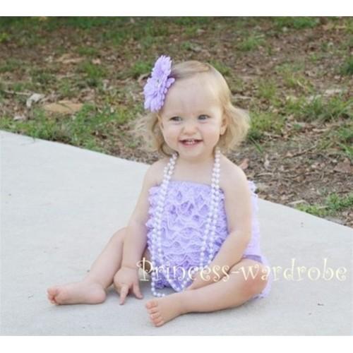 Lavender Lace Ruffles Petti Rompers LR04