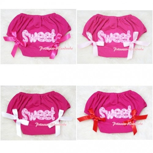 Hot Pink Bloomers & Pink Sweet Print & Various Bow BL52