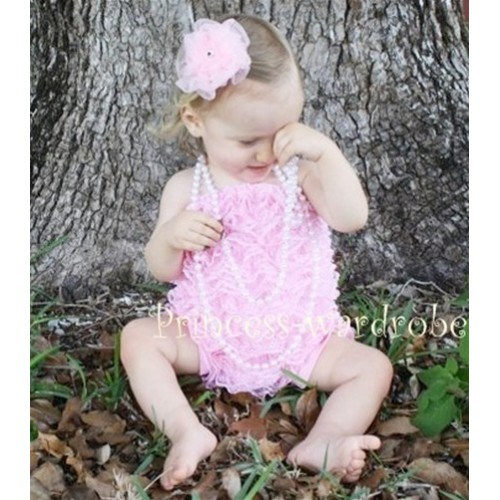 Light Pink Lace Ruffles Petti Rompers LR06