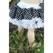Black with White Polka Pots New Born Pettiskirt N40