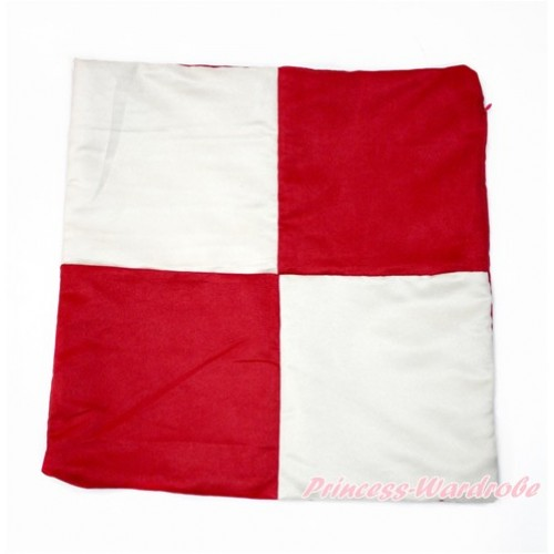 Red White Checked Home Sofa Cushion Cover HG096