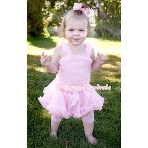Light Pink Baby Ruffles Tank Top with Light Pink Baby Pettiskirt NR04