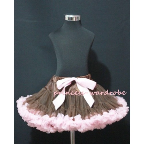 Brown Light Pink Teen Full Pettiskirt AP72