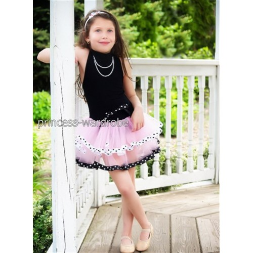 Black Pink with Dots Ballet Tutu B51