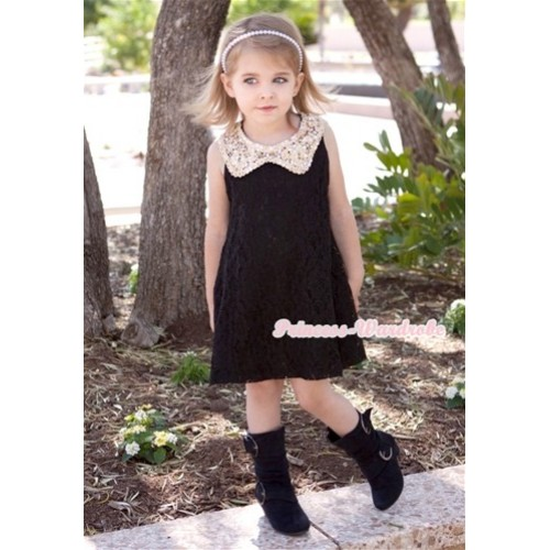 Black Floral Lace Pattern Gold Sparkle Sequin Necklace Black Giant Bow One Piece Wedding Party Dress PD040