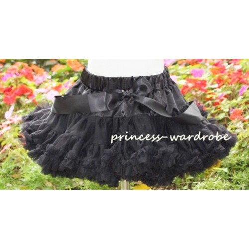 Black Teen Full Pettiskirt XXL AP04