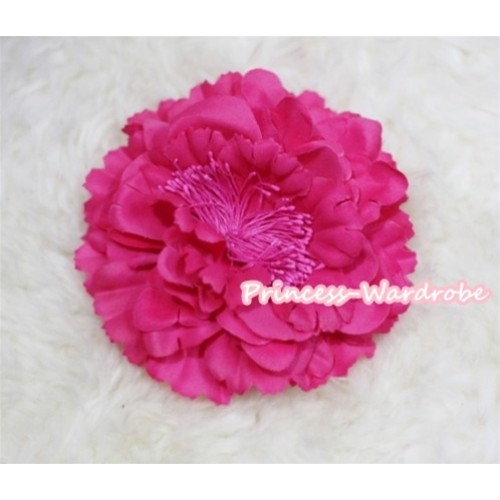 Hot Pink Peony Hair Pin H217