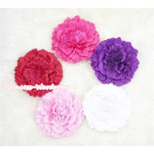LOT Of 5 Pcs Peony  Flowers Hair Pin H220