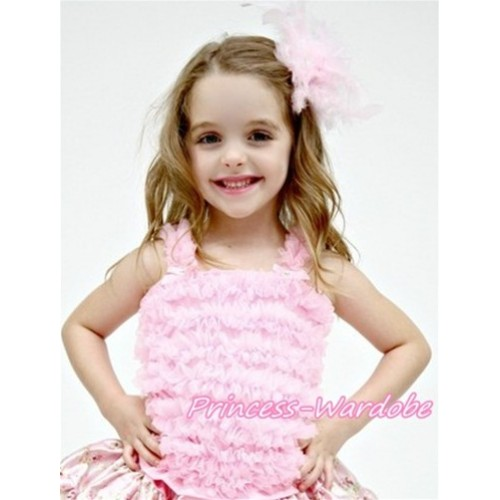 Light Pink Ruffles Tank Tops R01