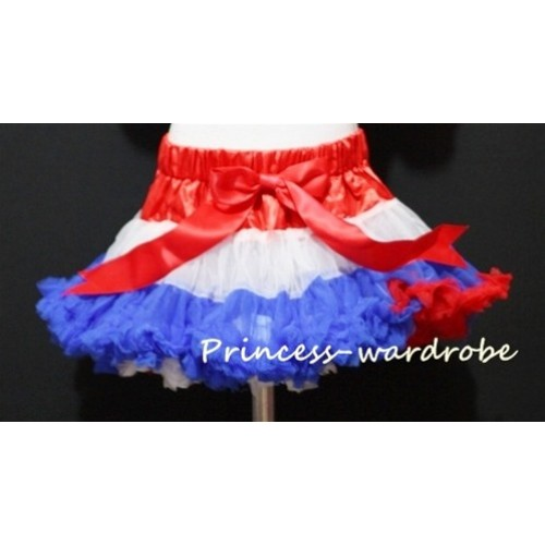 Red White Royal Blue Mix Pettiskirt P54