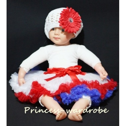 Newborn Red White Blue Pettiskirt N45