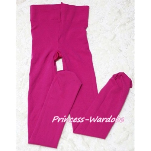 Plain Hot Pink Leggings Skinny Pants Tights LG140